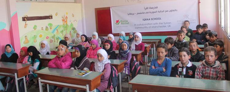 Opening the School in Syria Funded by Manchester Community