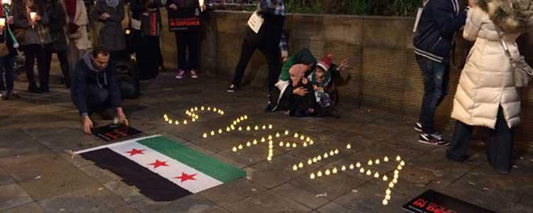 Candle Light Vigil for Syria's Forgotten Cities