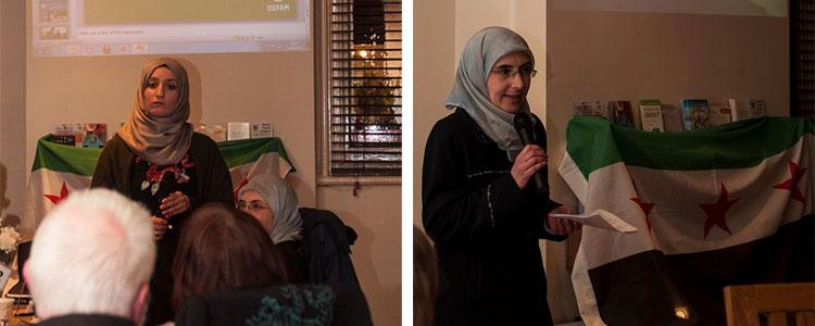 On International Women's Day, a talk on the reality of women in the Syrian revolution