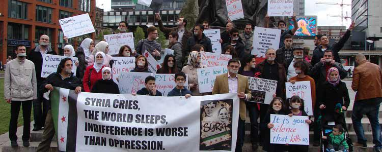 Silent protest against the World's Silence